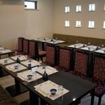 鶴生館 -  ご利用人数が20名様を超える場合には、補助テーブルを使用いたします。