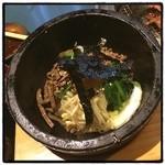 炭火焼肉 寿門 - シメは石焼ビビンバ
