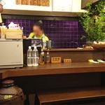 しむ -  こじんまりした家庭的な居酒屋です。       料理担当はお母さん、サービスはお父さんがあたってます。