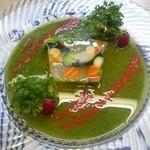 27764181 - 魚介と野菜のゼリー寄せ♪                       ソースが美味しすぎ(^з^)-☆