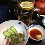 喜楽 - アジのタタキ