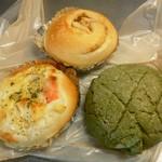 クープ バゲット -  グラタンぱん&りんごシナモン&抹茶メロンぱん☆(2014年5月)