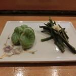 小判寿司 -  そら豆とわらび