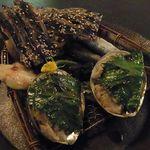 千寿惠 - さんが焼き、鯨のたれ、カワハギ、みりん干し