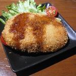 はっぴぃあわー -  自家製コロッケは大きなサイズ おからと合挽き肉配合