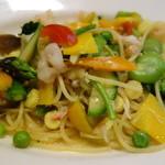 セントベーネ -  小海老・カニ・たっぷり野菜(12種)のスパゲティー