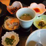 博多華味鳥 -  副菜と鶏スープ