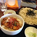 創庵 - 鶏丼セット700円
