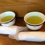 京音彩 - 最初にお茶とおしぼりのサービス☻