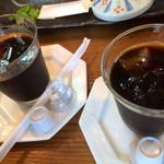 京音彩 - 食後のアイスコーヒー。