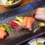 京音彩 - お刺身膳のお刺身。