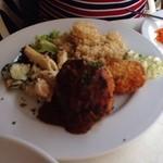 トミガヤ テラス - ハンバーグとコロッケの洋食プレート