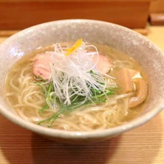山崎麺二郎 -  塩らーめん (750円)  '14 4月下旬