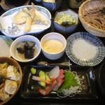 ほなみ亭 - 料理写真: ざるそば膳