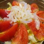 三国一 -  トマトサラダうどん (800円)