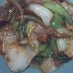 天明 -  牛肉のかき油炒め定食 850円