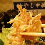 拉麺 餃子 竹蔵 - エノキの天ぷら