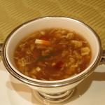 中国料理 翆陽 -  五目入り酸味辛いスープ