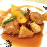 中国料理 翆陽 -  豚ヒレと野菜の黒酢ソース