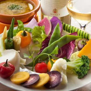 旬の季節野菜・横浜地野菜・珍し野菜を使ったメニューが豊富☆