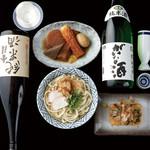 おごっと - お昼はうどんでお腹一杯に。夜は日本酒とつまみ、〆にうどんで大満足!