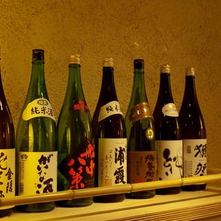 夜はおつまみと日本酒と〆にうどん!