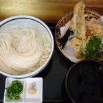 瀬戸内製麺710 - 冷やしうどん&おまかせ天ぷら(H26.5.30)