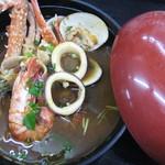 """海女の小屋与望亭 - 伊豆風ブイヤベース""""トマト赤味噌"""""""