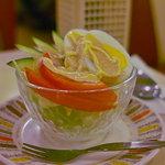 パーラー キムラヤ - セットに付くサラダ