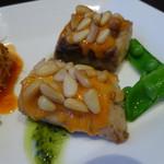 クーネルキッチン - おうべ産さわら、松の実と雲丹の饗宴