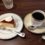 アビアント - ブレンドとチーズケーキ