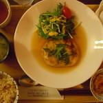 カフェ デリデリ - 草食系男子定食780円♪豆腐ハンバーグ♪