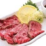 江戸前がってん寿司 - 冷製 黒毛和牛レア焼き 薄切り