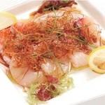 江戸前がってん寿司 - おまかせ4種のカルパッチョ