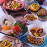 北海道料理ユック 北の海道 - 利尻会席3100円
