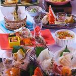 北海道料理ユック 北の海道 - 知床味めぐり会席4100円