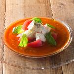 一瑳 - 水牛のモッツァレラチーズとトマトのカプレーゼ