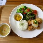 メリーカフェ - 若鶏の竜田揚げランチ