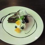 エッセンス - ケーキセット ¥1000のケーキ(ガトーショコラ)