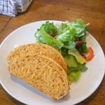 27845319 - ドライトマトが練り込まれたパン(スープセットは2枚つき)