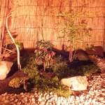 川村料理平 - 奥座敷の庭
