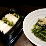 月 - カブ甘酢漬/小松菜お浸し