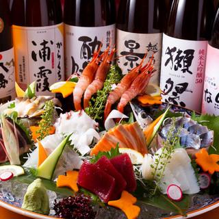 【銘柄日本酒飲み放題】各種季節コースは人気!