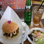 カフェ デ ルース - 当別バーガーセット(750円)