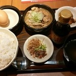 ぎんぶた - 絶品モツ煮込み&TKG定食¥680