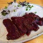 いしのまき - 料理写真:生ミンク鯨刺身