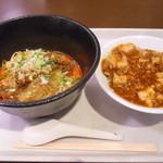 四川飯店 麺荘 - 汁なし麻辣坦々麺とミニ麻婆丼