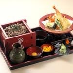 東京庵 - 料理写真:水車天ざる(1,500円)