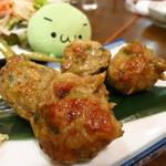 味処 うおとし - いわしのゲンコツ串(二串)440円