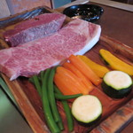 ステーキハウスいけだ - 特選牛のヒレ&ロース&焼野菜